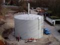 Neubau Gaslagerbehälter