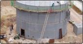 Neubau Gaslagerbehälter Kläranlage Kleinschwarzenlohe