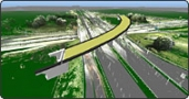 München - Autobahnkreuz Neufahrn, 3D Modell